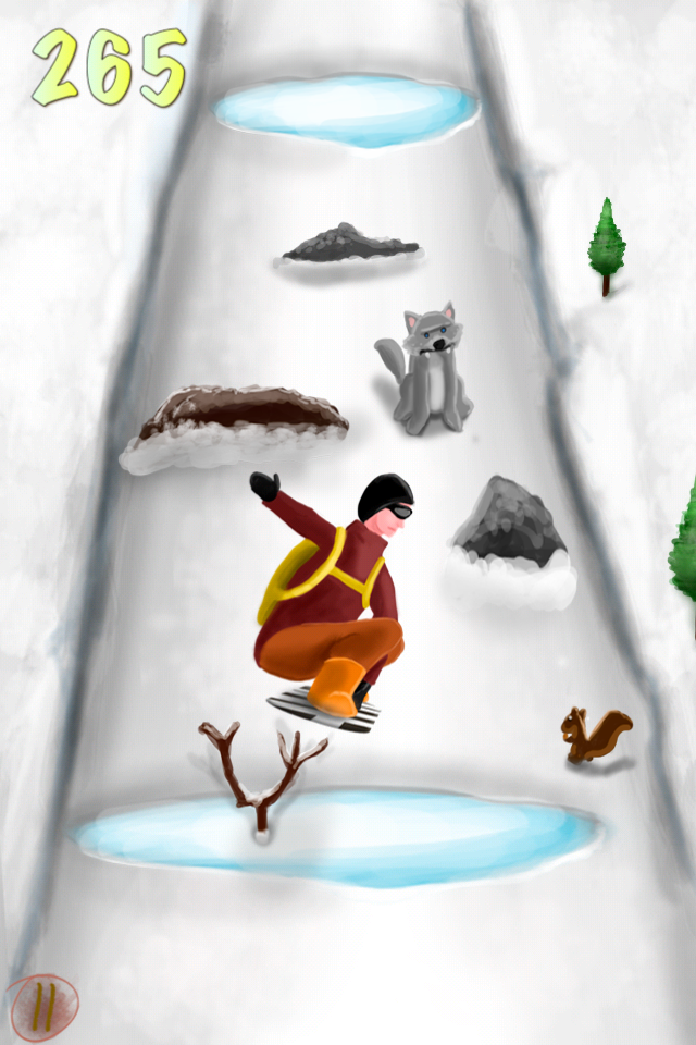Screenshot A Snowboarding eXtreme Skills Race Game